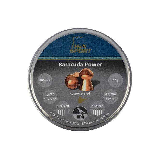 CHUMBINHO H&N BARRACUDA POWER 4,5MM 300 UNIDADES