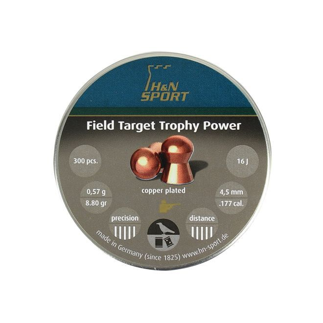 Chumbinho H&N Field Target Trophy Power 4,5mm 300un