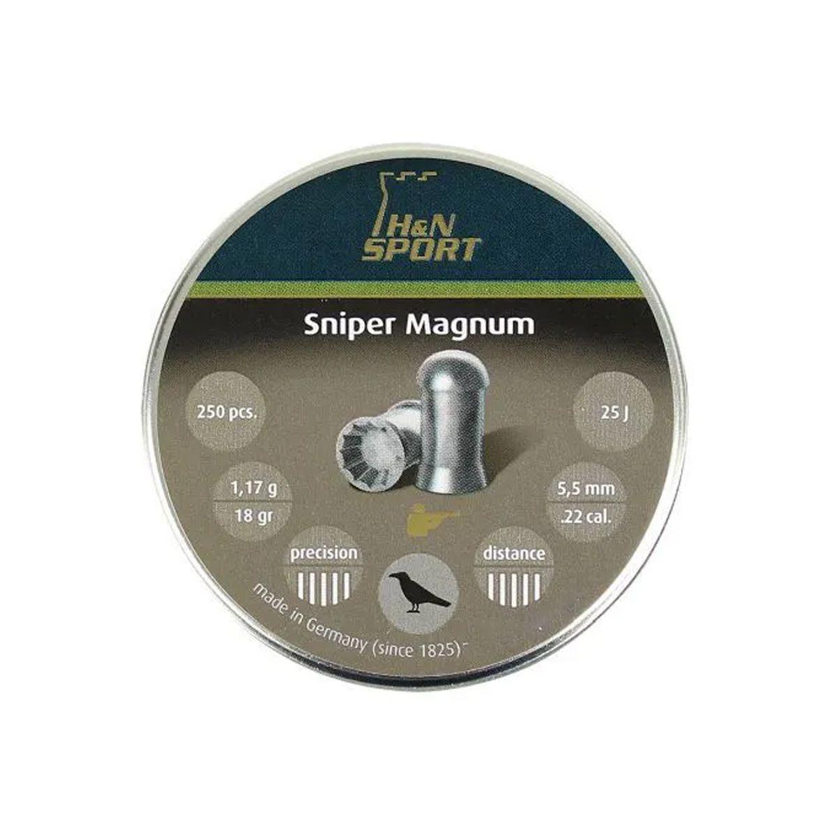 Chumbinho H&N Sniper Magnum 5,5mm 250un