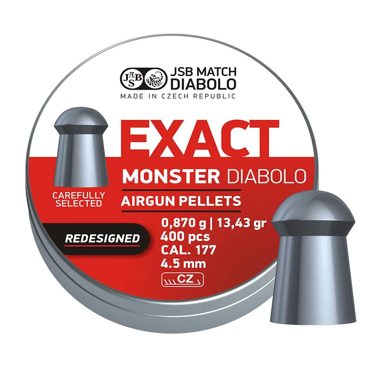 Chumbinho Jsb Exact Monter Diabolo 4.5mm 400un. 13,43gr