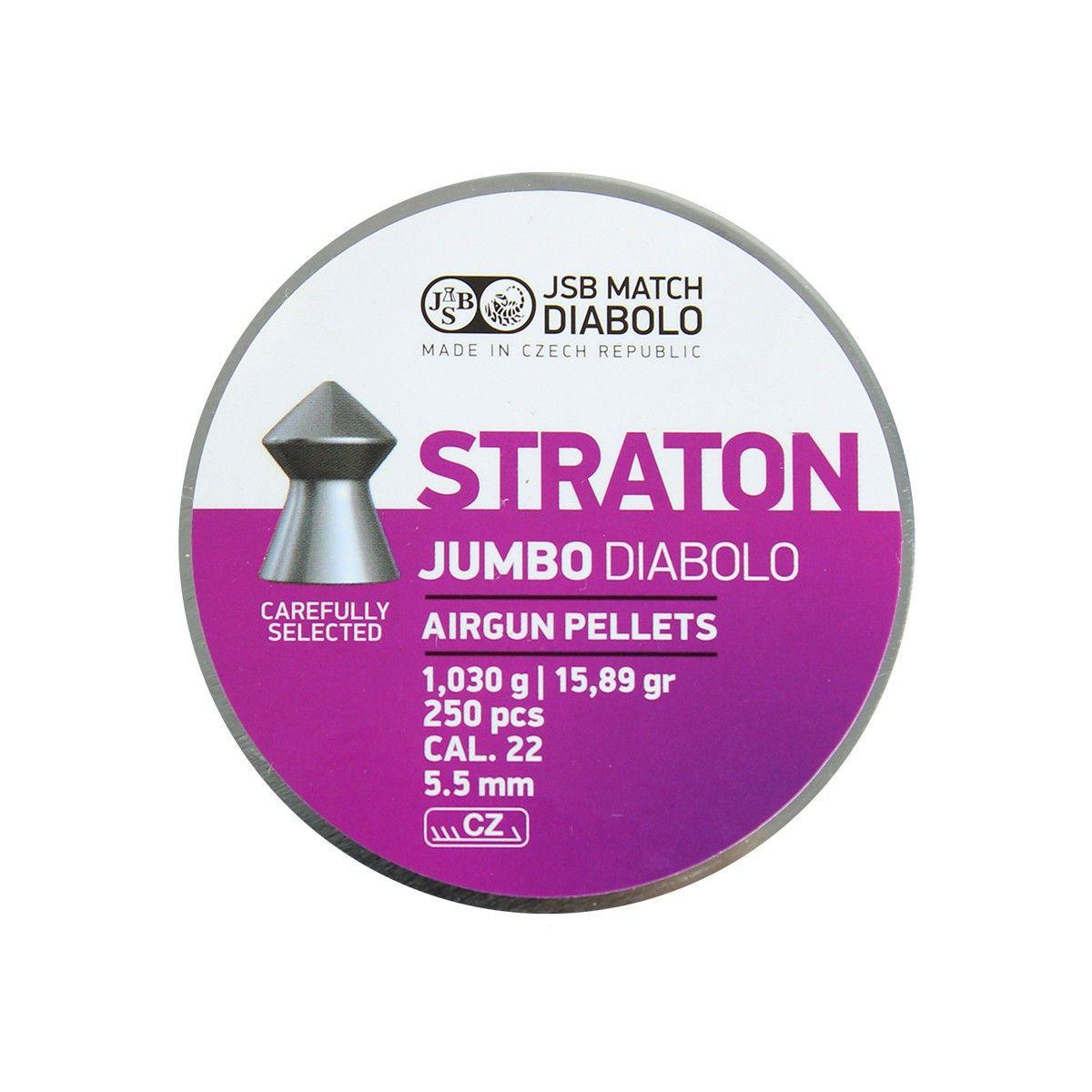 Chumbinho JSB Straton Jumbo Diabolo 5.5mm 250un. 15.89gr