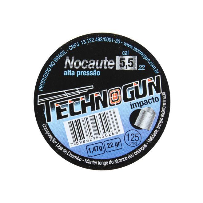 CHUMBINHO TECHNOGUN NOCAUTE 125UN 5.5MM