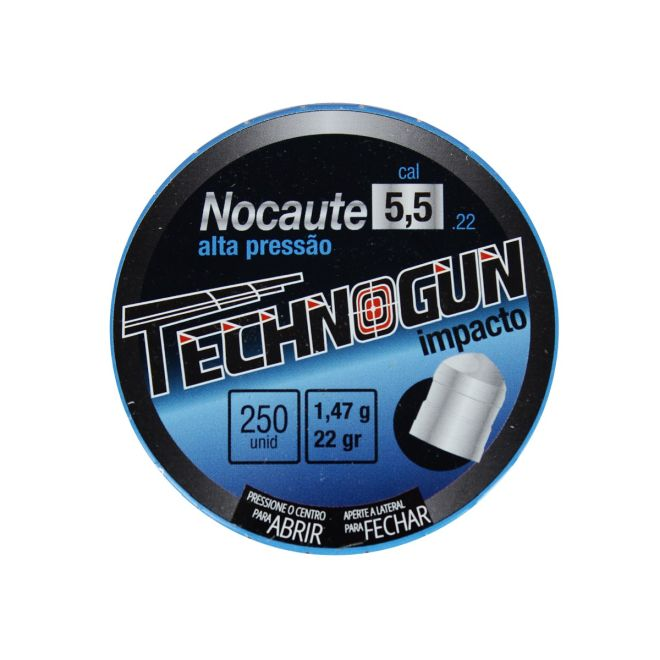 Chumbinho Technogun Nocaute 5.5mm 250un.