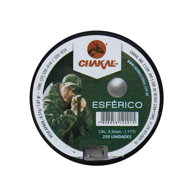 CHUMBO DE PRESSAO PREMIUM ESFERICO 4.5 MM