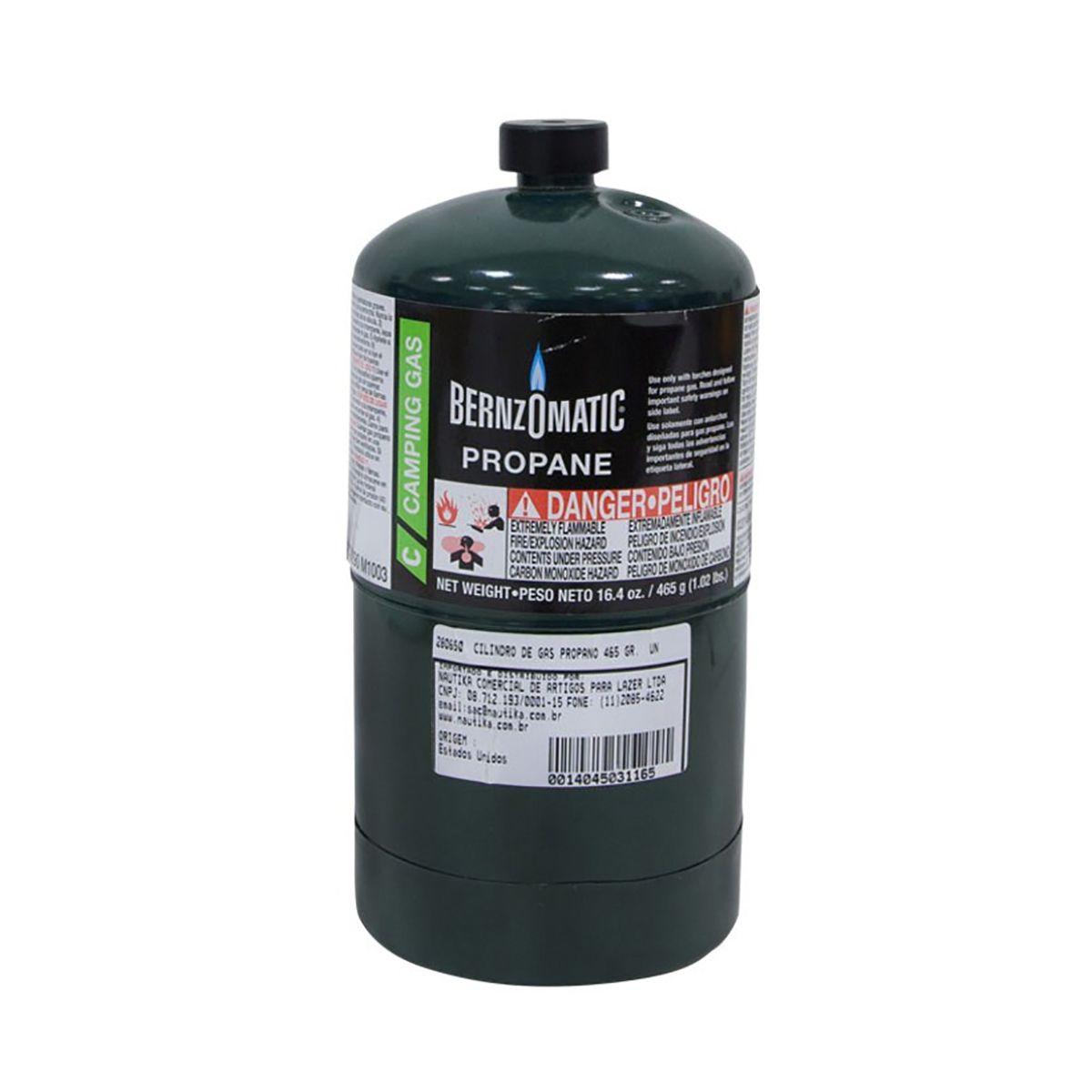 Cilindro De Gás Propano Bernzomatic Propane Fuel465g