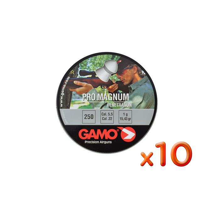 Kit 10 Chumbinhos Gamo Pro Magnum Penetration 5.5mm 250un.