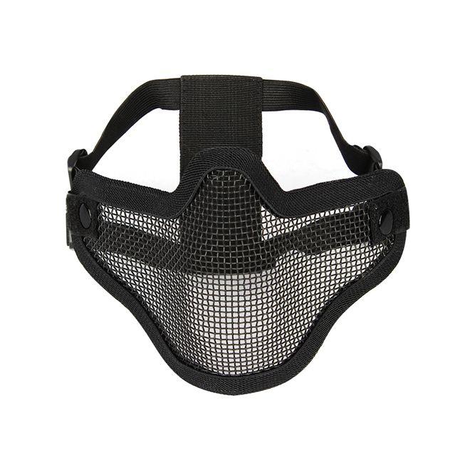 Mascara Airsoft Strike meia face - Tela PRETA