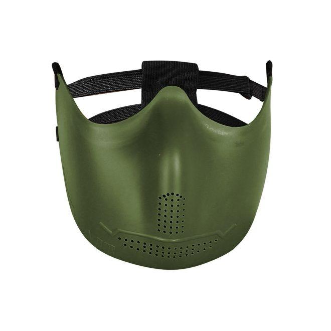 Máscara de borracha flexível Hakkotsu (Iron face oliva)
