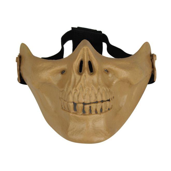 Mascara de protecao facial Avenger Skull Airsoft Goggle TAN