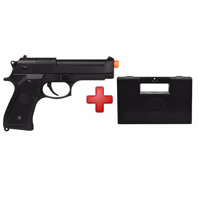 Pistola Airsoft Elétrica Cyma Beretta CM126 Full Metal Bivolt + Case Maleta
