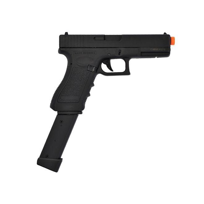 Pistola Airsoft Elétrica Cyma Glock G18C CM030 Semi-Metal Bivolt + Extensor de Magazine