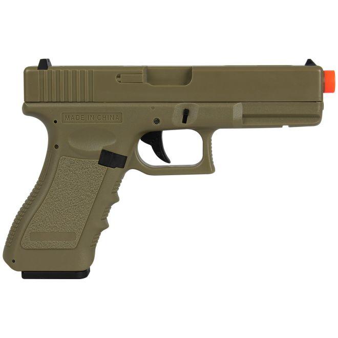 Pistola Airsoft Elétrica Cyma Glock G18C CM030 TAN Bivolt