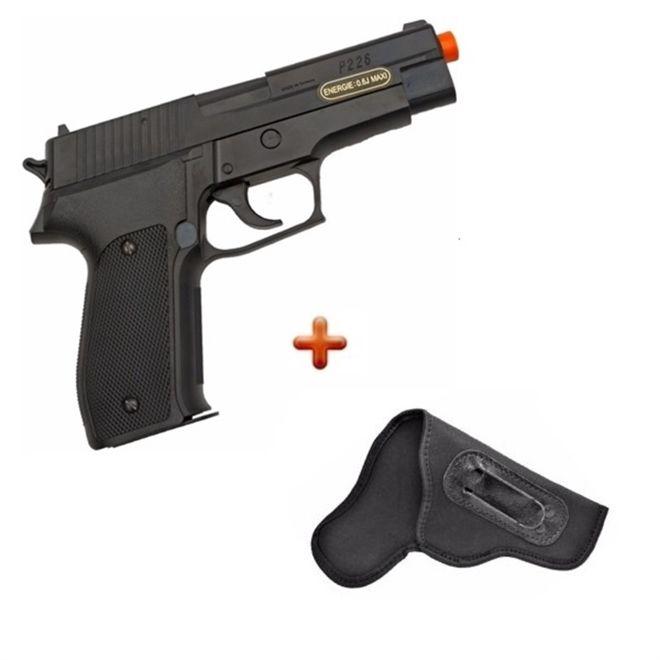 Pistola Airsoft Sig Sauer P226 6.0mm + Coldre Neoprene 765
