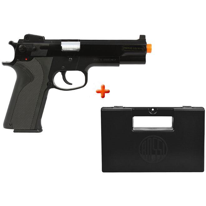 Pistola Airsoft Spring KWC M4505 Black + Case Maleta