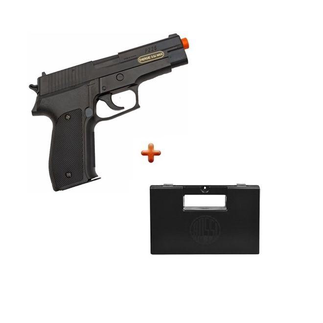Pistola Airsoft Spring Sig Sauer P226 + Case Maleta