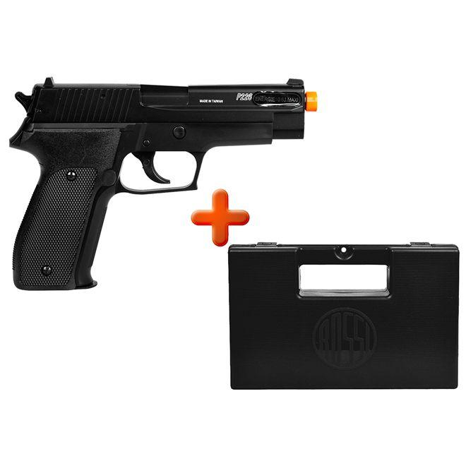 Pistola Airsoft Spring Sig Sauer P226 Slide Metal + Case Maleta