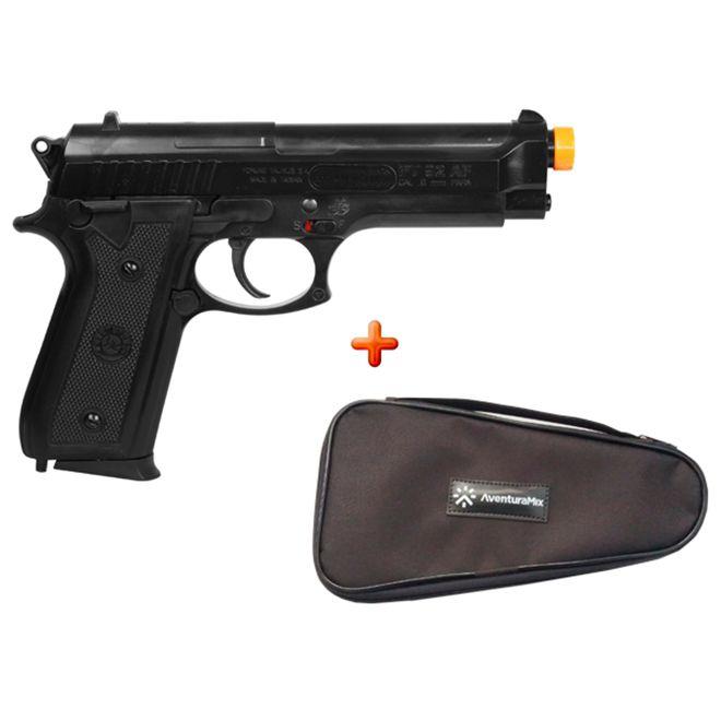 Pistola Airsoft Spring Taurus PT92 + Capa de Proteção