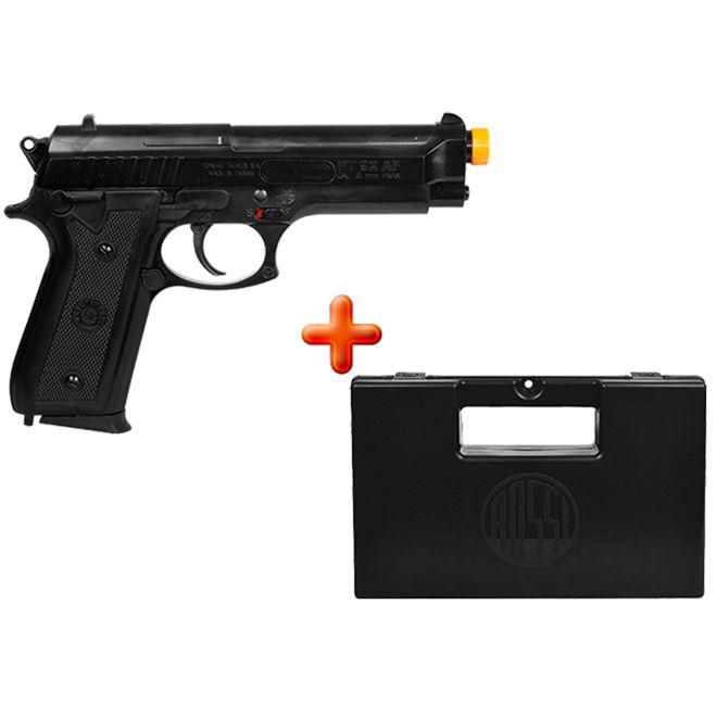 Pistola Airsoft Spring Taurus PT92 + Case Maleta