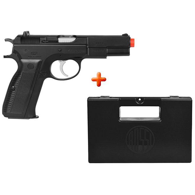 Pistola Airsoft Spring UHC CZ75 Preta + Case Maleta