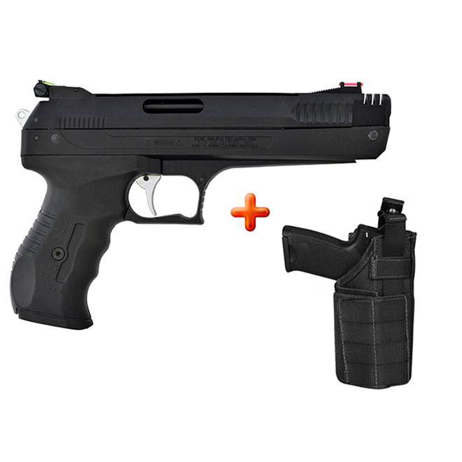 Pistola de Pressão Beeman 2004 P17 New Generation 4.5mm + Coldre Tático de Perna