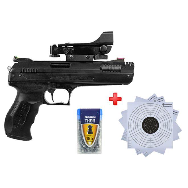 Pistola de Pressão Beeman 2006 P17 New Generation 4.5mm com Red Dot + Capa Rossi + Alvos de Papel +