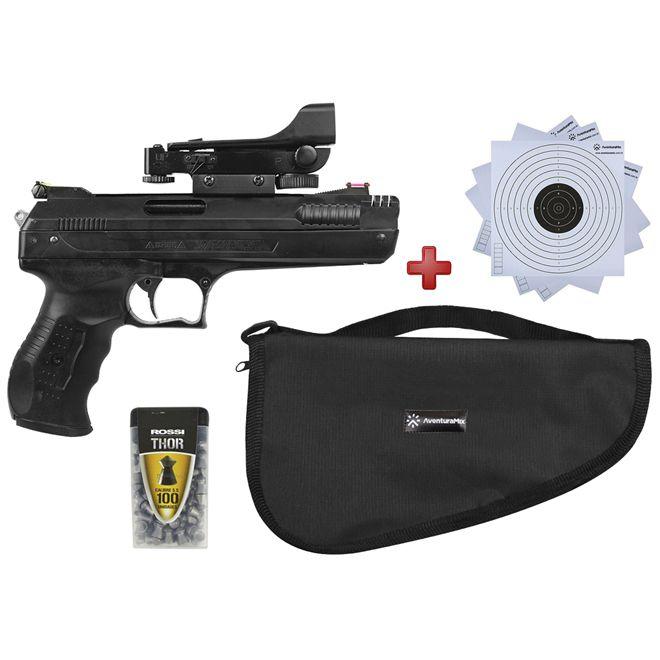 Pistola de Pressão Beeman 2006 P22 5.5mm com Red Dot + BRINDE Capa Simples + Alvos de Papel + Chumbi