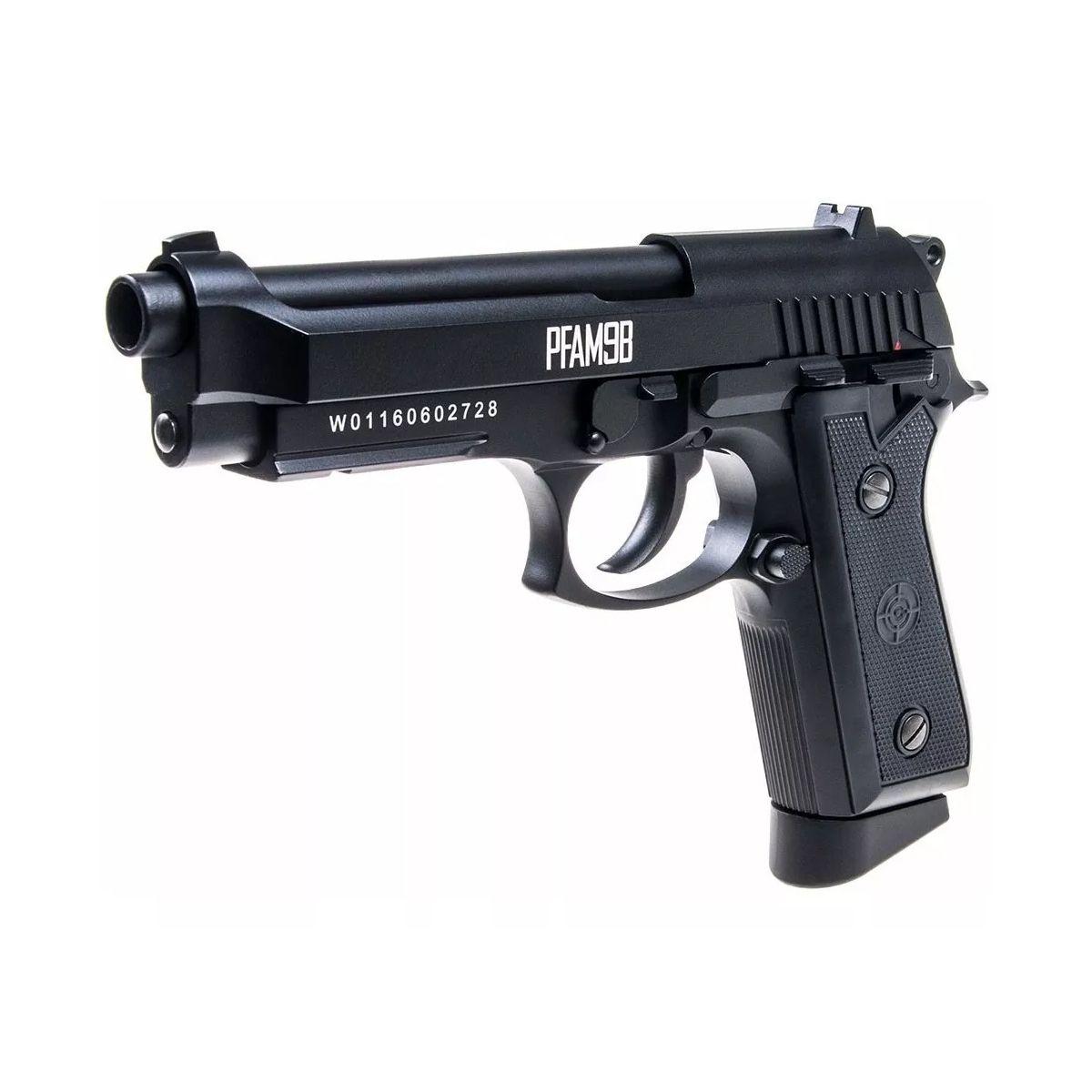 Pistola De Pressão Co2 Crosman PFAM98 Metal Blowback 4.5mm
