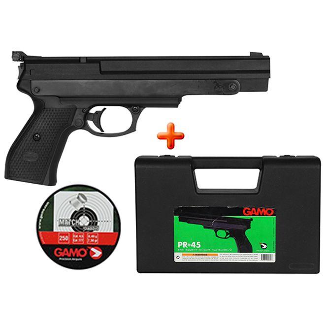 Pistola de Pressão Gamo PR-45 4.5mm + BRINDE Case e Chumbinho