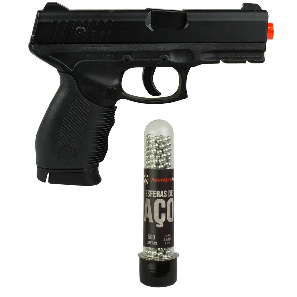 Pistola De Pressão Mola KWC 24/7 Slide Metal 4.5mm + Esferas