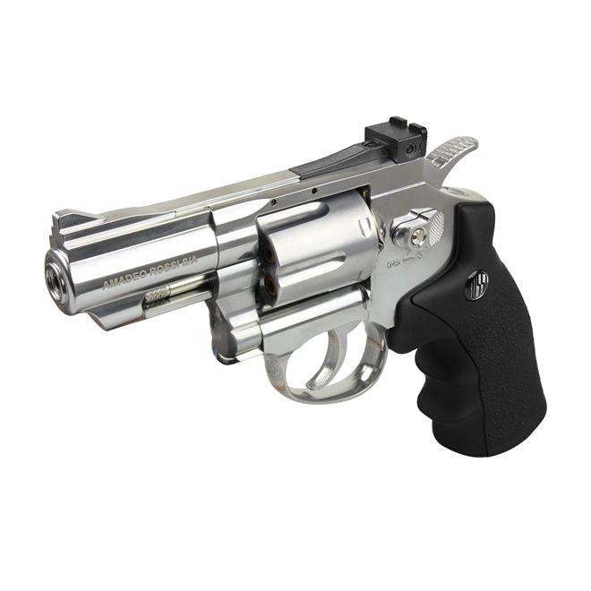 Revolver Pressão Co2 Wingun Rossi Cromado 708S 2.5