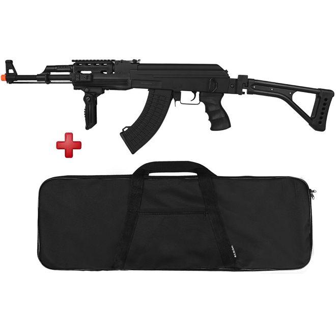 Rifle Airsoft Elétrico Cyma Ak-47 Semi-metal Bivolt + Capa