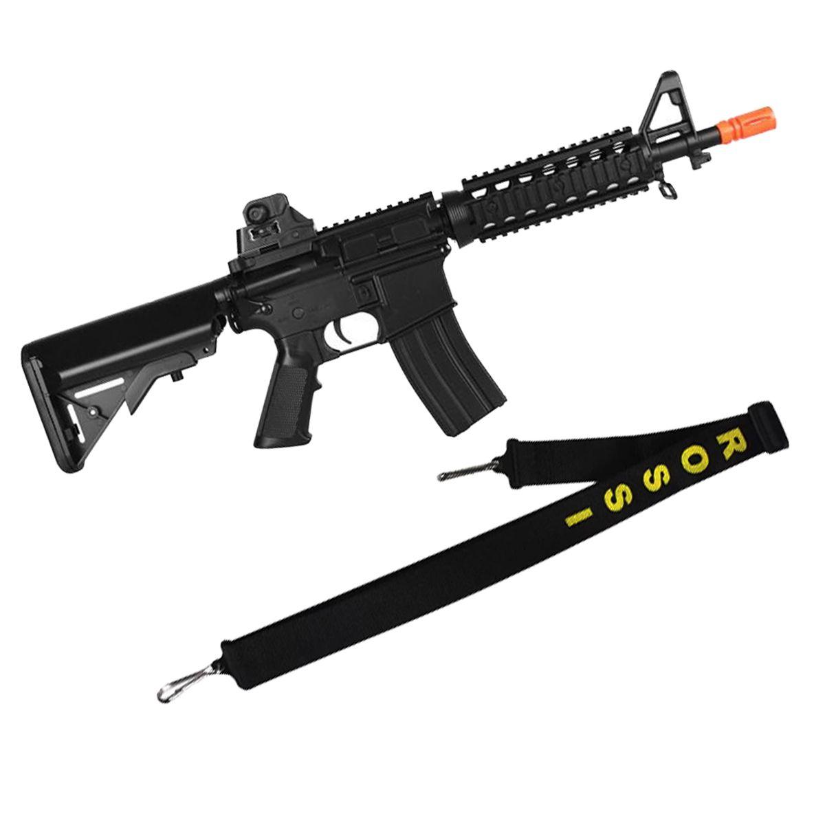 Rifle Airsoft Elétrico Cyma M4 Cqb Ris CM506 Bivolt + Bandoleira