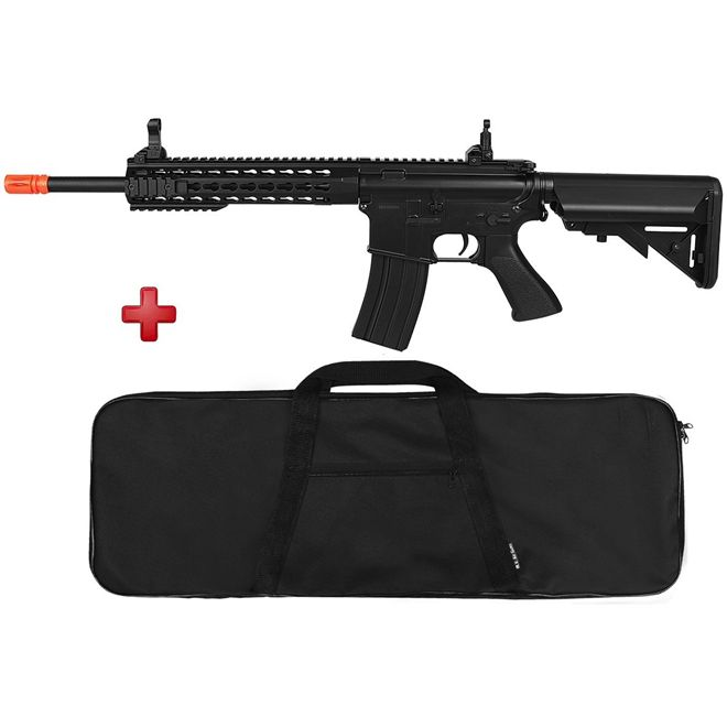 Rifle Airsoft Elétrico Cyma M4A1 CM515 Black Bivolt + BRINDE Capa Simples