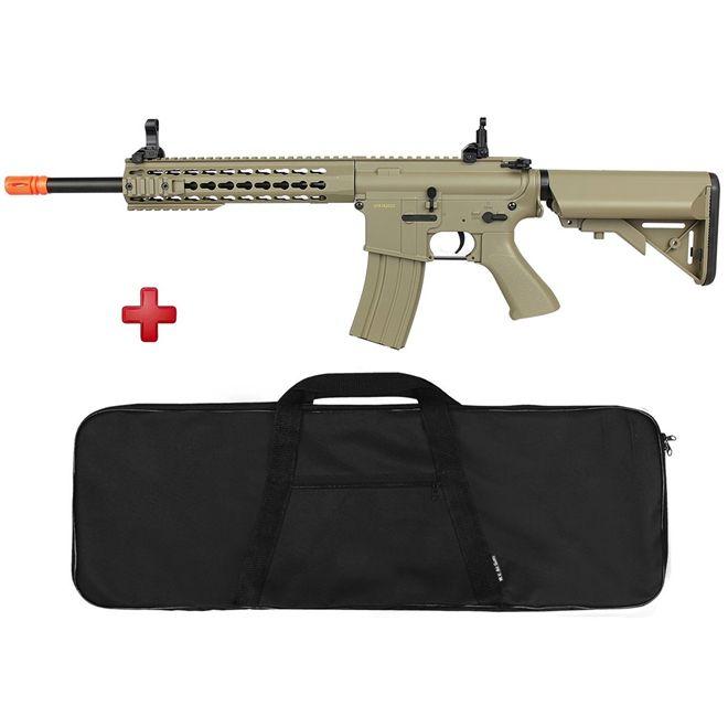 Rifle Airsoft Elétrico Cyma M4A1 CM515 TAN Bivolt + BRINDE Capa Simples