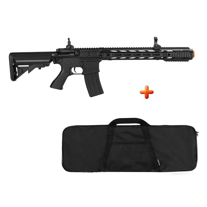 Rifle Airsoft Elétrico Cyma M4A1 CM518 Black Bivolt + BRINDE Capa Simples