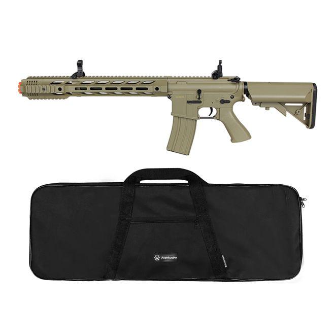 Rifle Airsoft Elétrico Cyma M4A1 CM518 TAN Bivolt + BRINDE Capa Simples