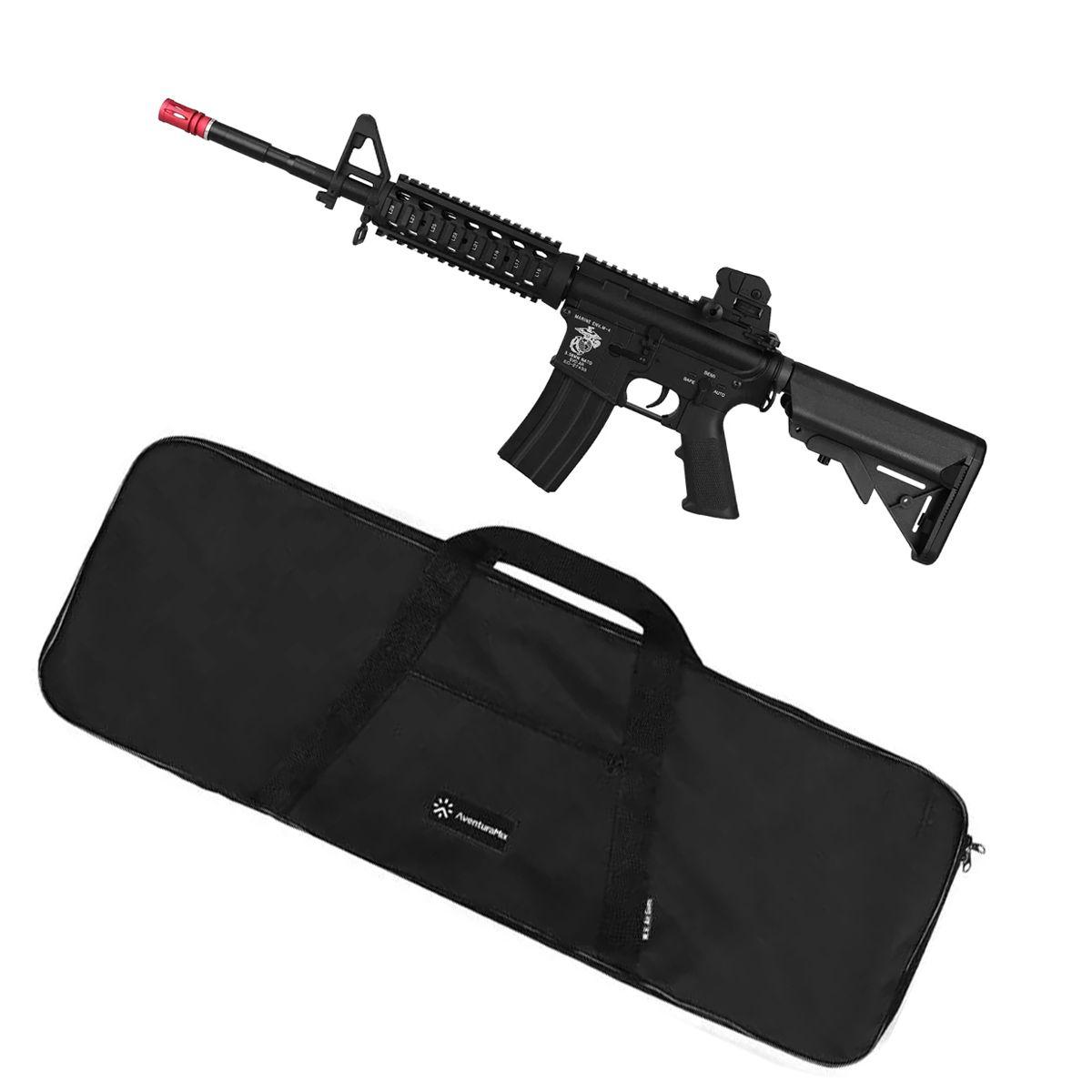 Rifle Airsoft Elétrico Evo Tactical CQB M4A1 Long Full Metal + BRINDE Capa Simples