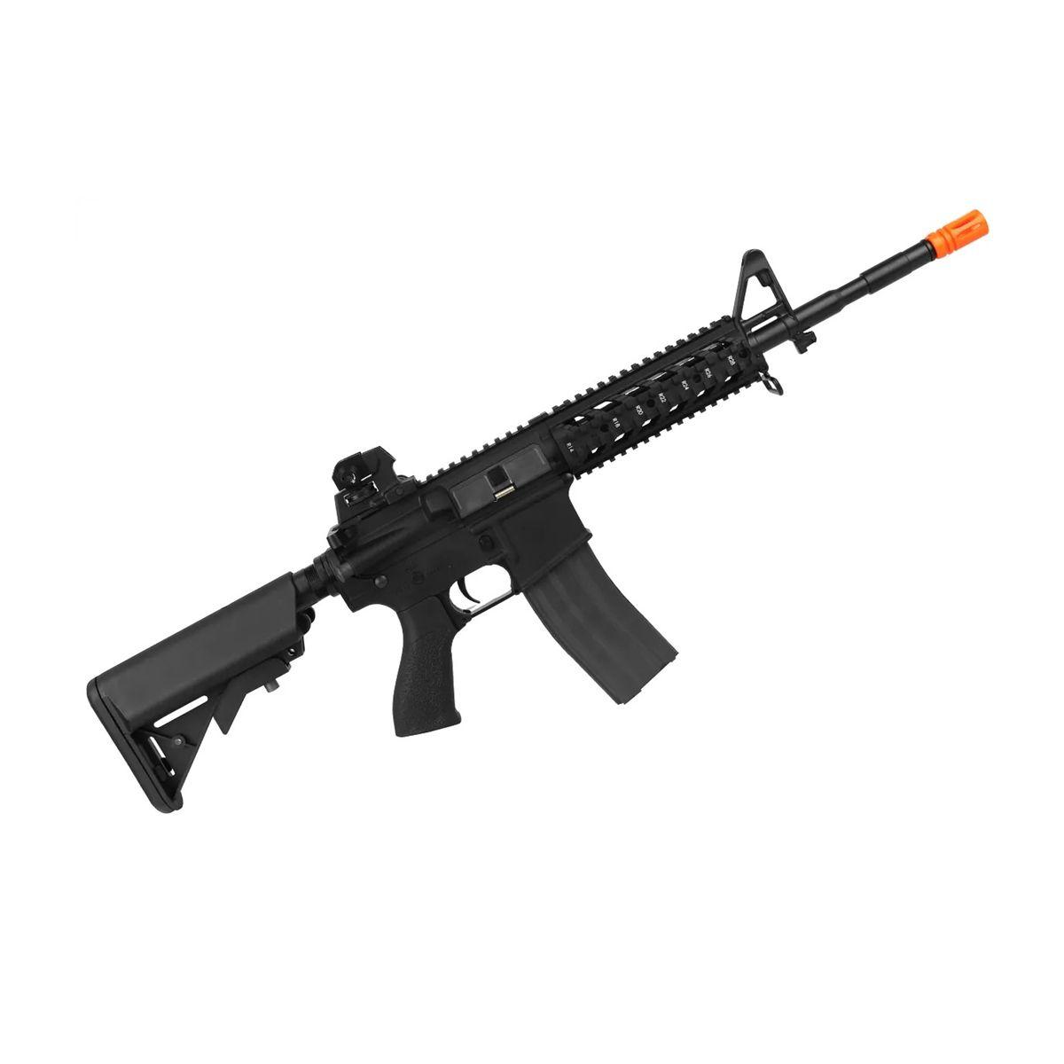 Rifle Airsoft Elétrico G&G CM16 Raider L 6mm+ Bateria e Carregador Lipo