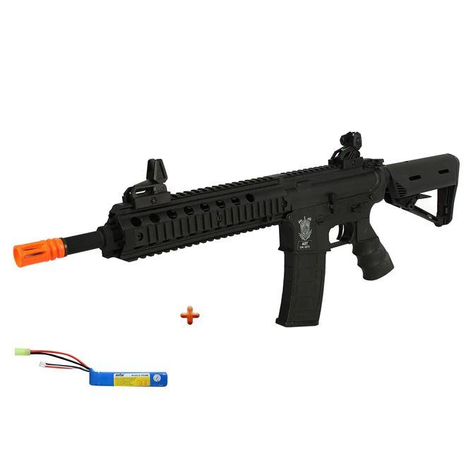 Rifle Airsoft Elétrico SRC M4A1 SR4 ST SERIES Black Combo Lipo  - GE1604