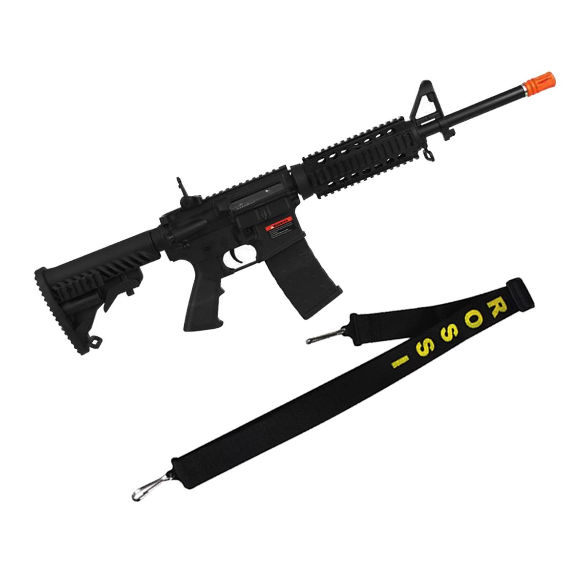 Rifle Airsoft M4A1 Kompetitor A.P.S Blowback 6mm + Bandoleira