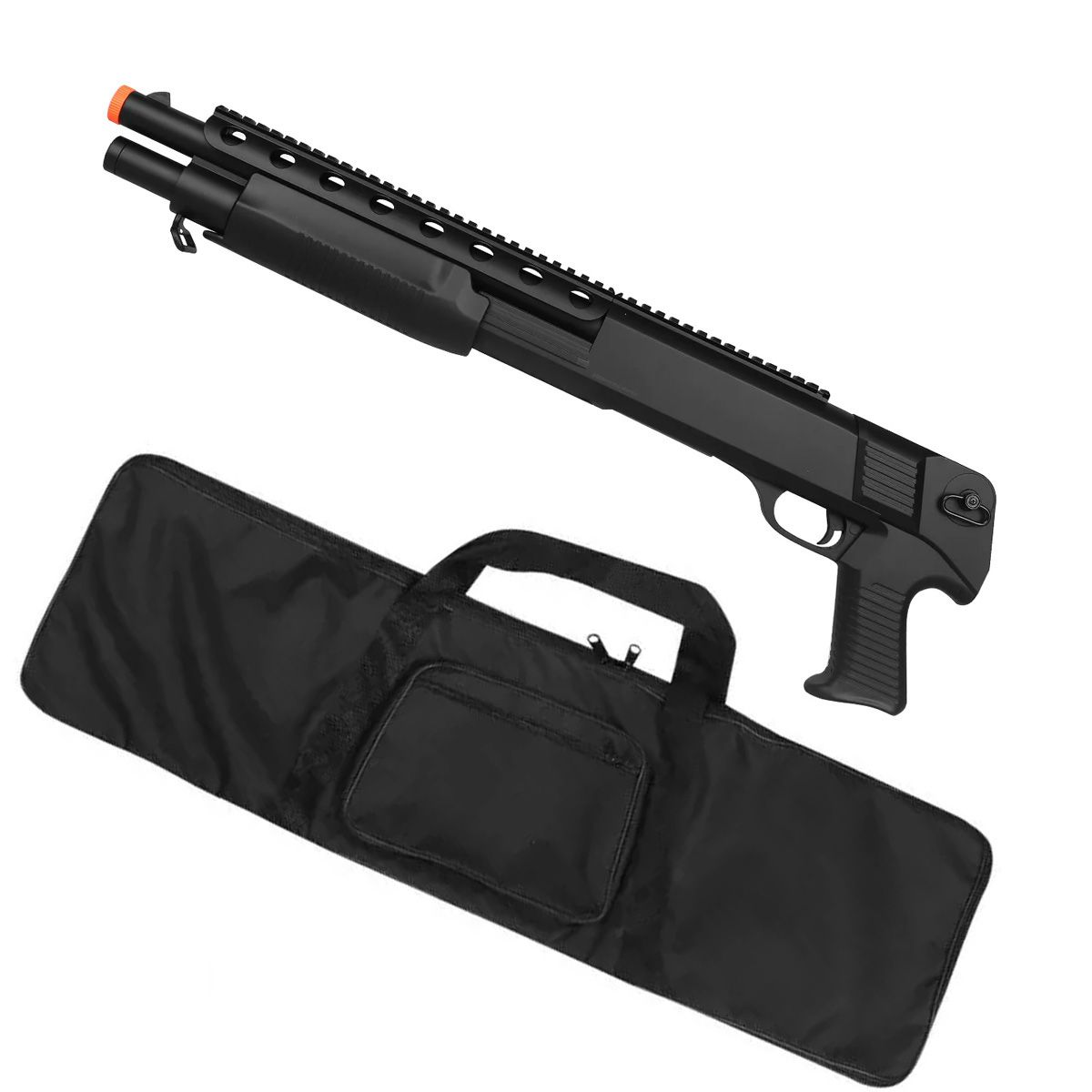 Rifle Airsoft Spring Shotgun M309 + Capa Simples