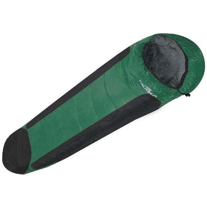 Saco De Dormir Nautika Mummy Preto e Verde