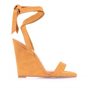 Anabela Alta New Suede Mustard