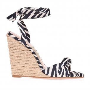 Anabela Salto Alto Fresh Zebra
