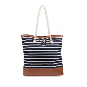 Bolsa Summer Navy Blue/Caramelo