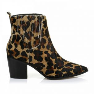 Bota Salto Médio Pelo Leopard