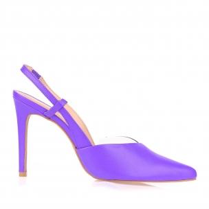 Chanel Salto Alto Fossil Neon Violet