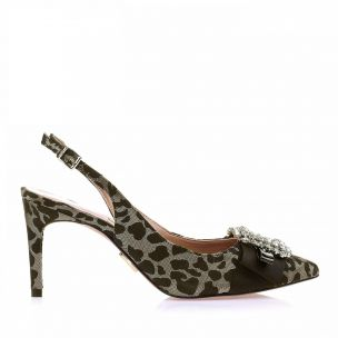 Chanel Salto Médio Shine Leopardo