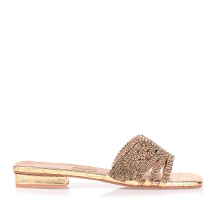 Flat Croco Specchio Ouro