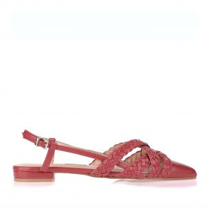 Flat Eco New Couro Scarlet